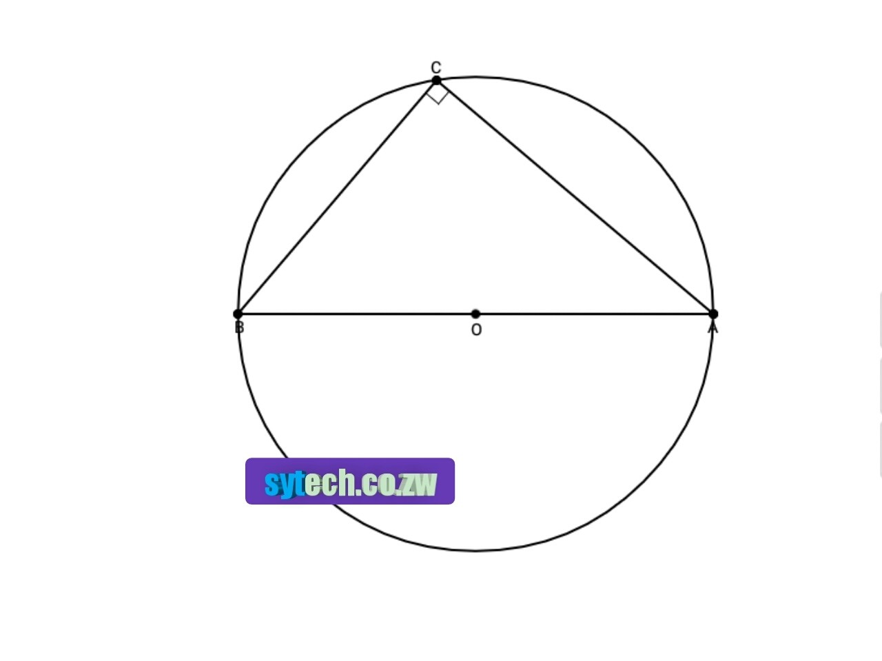 Circle geometry theorem 3