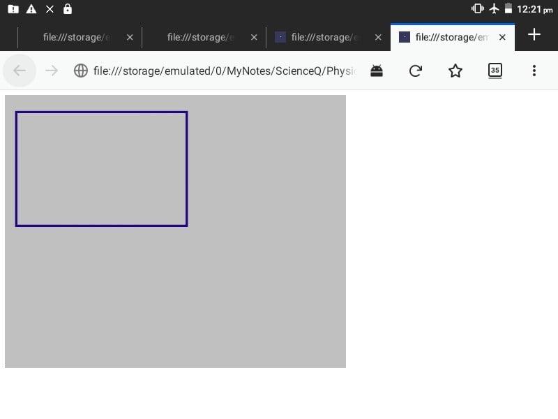 Canvas rectangle
