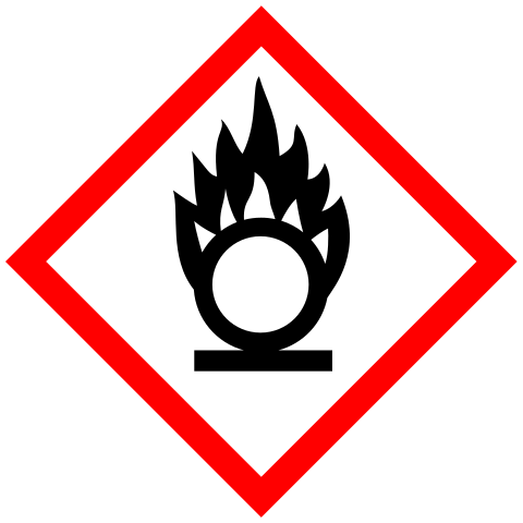 Oxidising agent warning