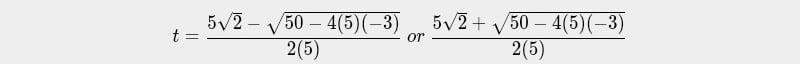 Quadratic formulae