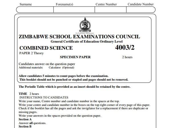 Zimsec Combined Science Specimen Paper 2.pdf