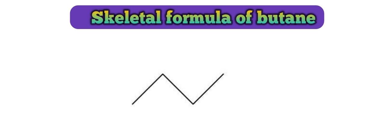 Skeletal formula of butane